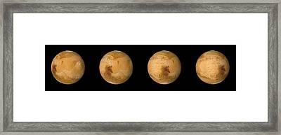Mars Rotation In 6 Hours Framed Print by Detlev Van Ravenswaay