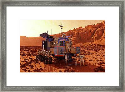 Mars Rover Canyon Framed Print by Walter Myers