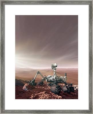 Mars Rover Curiosity Framed Print
