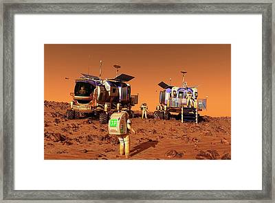 Mars Rovers Rendezvous Framed Print by Walter Myers