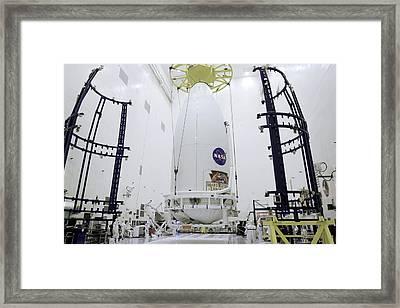 Mars Science Laboratory Spacecraft Framed Print by Nasa