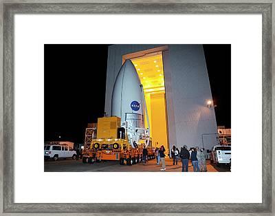 Mars Science Laboratory Spacecraft Framed Print by Nasa/kim Shiflett