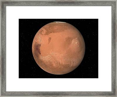 Mars Topography Framed Print