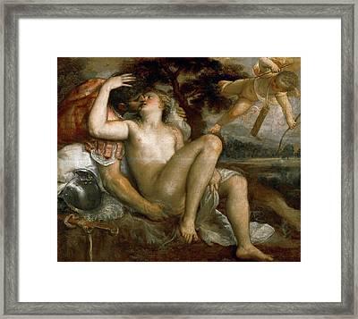 Mars Venus And Amor Framed Print