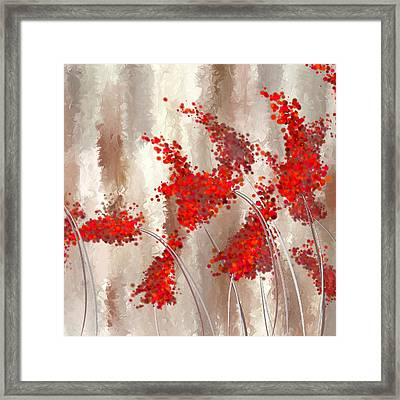 Marsala Abstract Framed Print by Lourry Legarde
