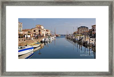 Marseillan Harbour Framed Print by Louise Heusinkveld