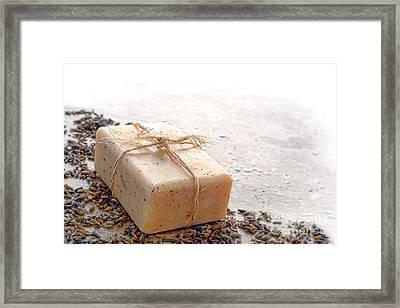 Marseilles Bath Soap Framed Print