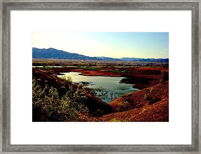 Marsh And River Framed Print