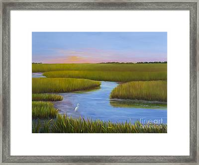 Marsh At Low Water Framed Print