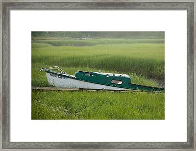 Marsh Boat Framed Print by Steven Bateson