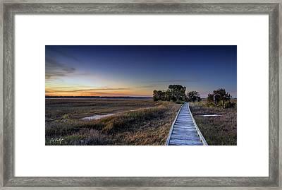 Marsh Bridge Framed Print by Phill Doherty