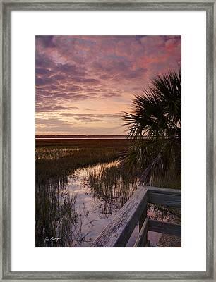 Marsh Dock Framed Print by Phill Doherty