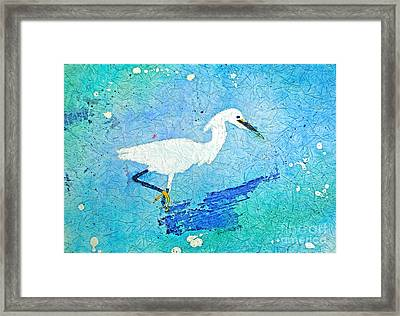 Marsh Egret Framed Print