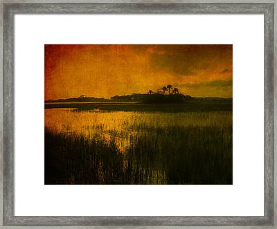 Marsh Island Sunset Framed Print by Susanne Van Hulst