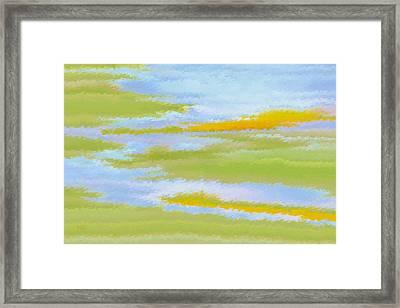 Marsh Landscape Framed Print