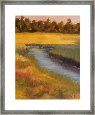 Marsh Mellow Framed Print