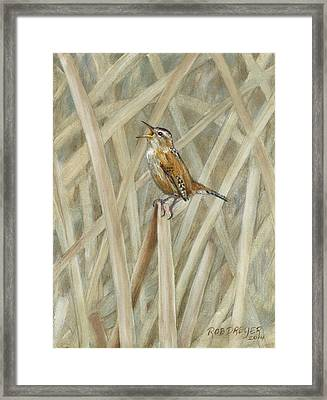 Marsh Melody Framed Print by Dreyer Wildlife Print Collections