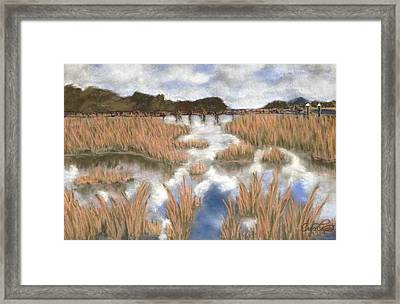 Marsh Reflections Framed Print by Cristel Mol-Dellepoort