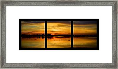 Marsh Rise Tiles 1-3 Framed Print