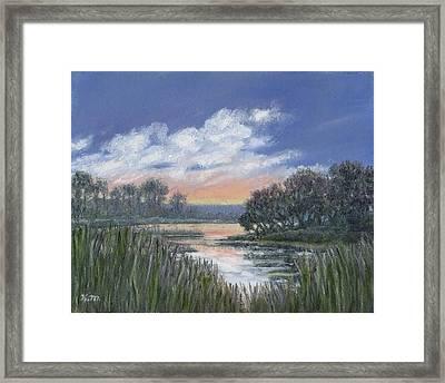 Marsh Sketch # 3 Framed Print by Kathleen McDermott