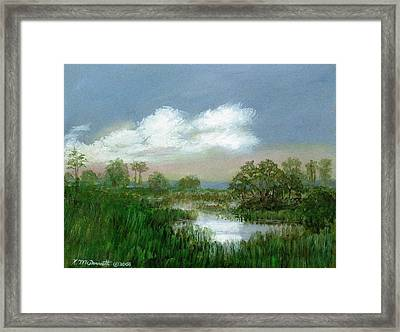 Framed Print featuring the painting Marsh Sketch by Kathleen McDermott