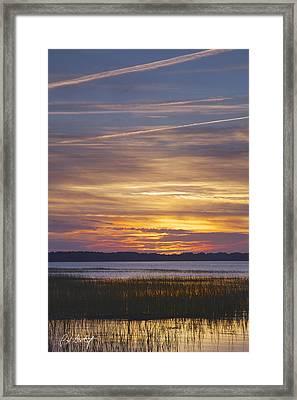 Marsh Sunset Framed Print by Phill Doherty