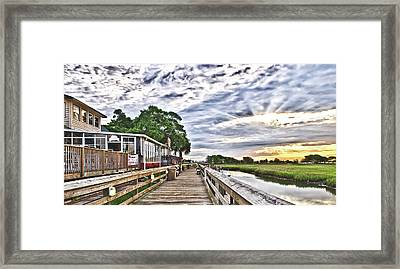 Marsh Walk 1 - Murrells Inlet Framed Print
