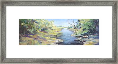 Marsh Waterway Framed Print