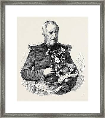 Marshal Castellane Commander-in-chief Of The Army Of Lyons Framed Print by English School