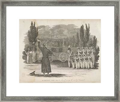 Marshal Ney Executed By Firing Squad Framed Print