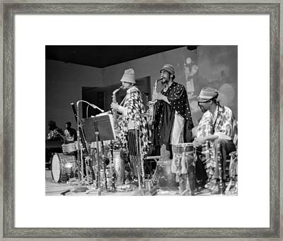 Marshall Allen And Danny Davis Framed Print by Lee  Santa
