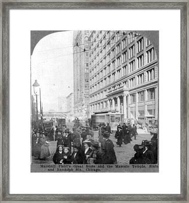 Marshall Fields Great Store Framed Print by Everett