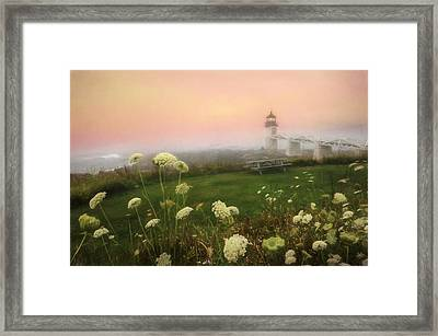 Marshall Point At Sunrise Framed Print by Lori Deiter