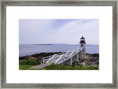 Marshall Point Light 1 Stylized Framed Print