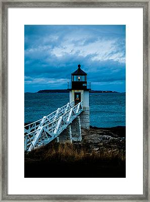 Marshall Point Light At Dusk 1 Framed Print
