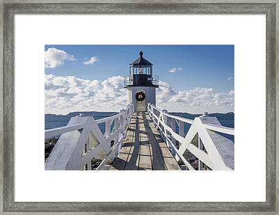 Marshall Point Light Framed Print by David Cote