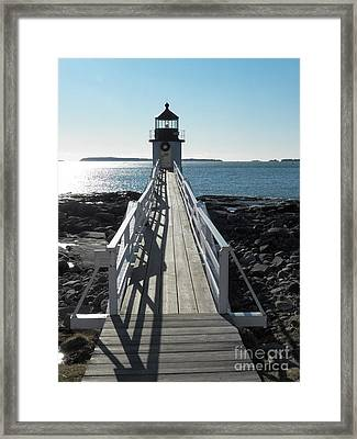 Marshall Point Lighthouse 2 Framed Print by Joseph Marquis