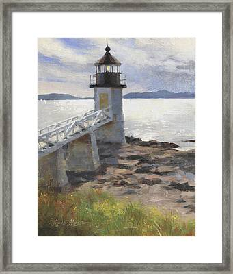 Marshall Point Lighthouse Framed Print by Anna Rose Bain