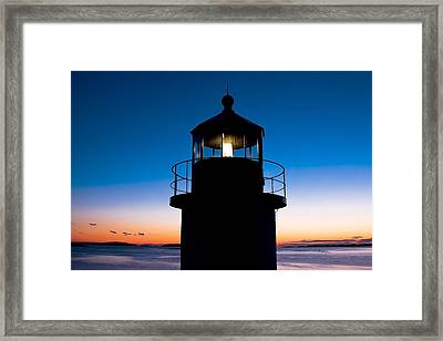 Marshall Point Lighthouse At Sunset In Maine Framed Print