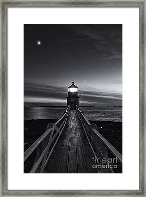 Marshall Point Lighthouse At Twilight II Framed Print by Clarence Holmes