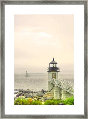 Marshall Point Lighthouse In Maine Framed Print