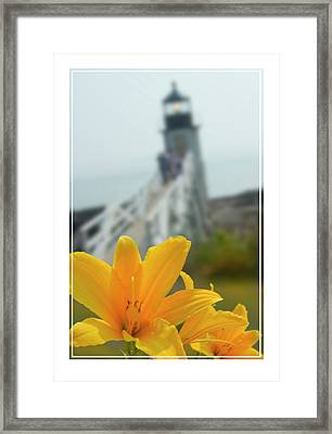 Marshall Point Lighthouse  Framed Print by Mike McGlothlen