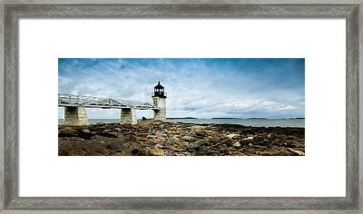 Marshall Point Lighthouse Panoramic Framed Print by David Smith