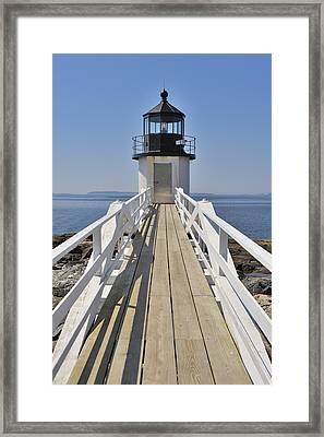Marshall Point Lighthouse Port Clyde Maine Framed Print by Marianne Campolongo