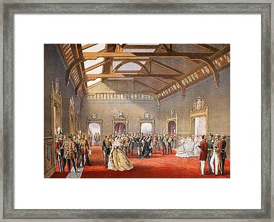 Marshalling The Procession Of The Bride Framed Print by English School