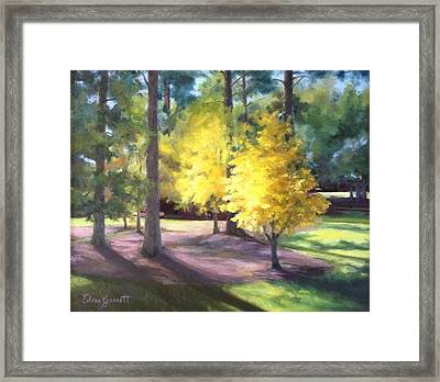 Marshallville Landscape With Yellow Trees Framed Print