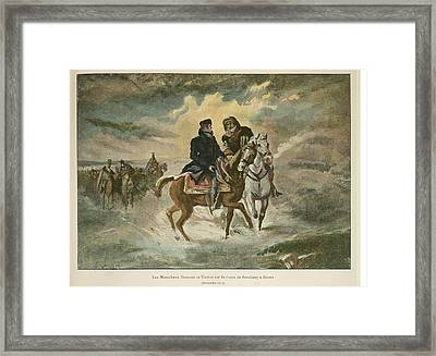Marshals Oudinot And Victor Framed Print by British Library