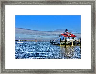 Marshes Lighthouse Framed Print by Tom Gari Gallery-Three-Photography