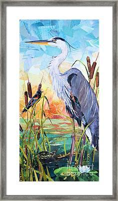 Marshland Moring Framed Print