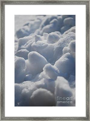 Marshmallow Mounds Framed Print by Susan Hernandez